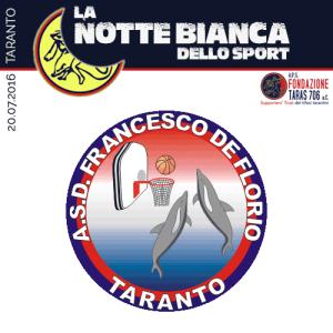 L'asd Francesco De Florio Taranto è una società di pallacanestro che svolge attività giovanile maschile, femminile e di minibasket.