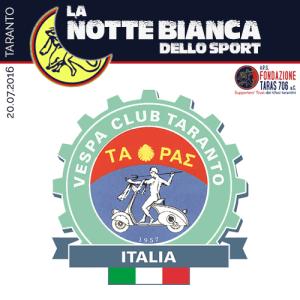 """Il VESPA CLUB TARANTO è una ASD che si pone la finalità di diffondere attività connesse alla disciplina del motociclismo, sia turistica che sportiva. Si occupa di promozione sociale sul territorio utilizzando lo sport come strumento di aggregazione al fine di promuovere la conoscenza e la pratica del motociclismo. Affiliato al Vespa Club d'Italia e alla Federazione Motociclistica Italiana (FMI) la nostra attività spazia dai raduni turistici alle competizioni sportive. Partecipiamo ai vari raduni dei Vespa Club. Da quest'anno, siamo promotori del Campionato Regionale di Gimkana, attività nella quale abbiamo fortemente creduto tanto che la tradizionale corsa ad ostacoli è arrivata alla dodicesima edizione nella città di Taranto. Non va trascurato nemmeno l'importanza storica della Vespa nei decenni di esistenza: dal dopo guerra in avanti, ha rappresentato il mezzo di locomozione più innovativo e costantemente in evoluzione. Al riguardo il nostro impegno è quello di valorizzare il patrimonio storico del """"Mito Vespa"""", tramite il restauro e l'iscrizione dei mezzi all'apposito registro nazionale."""