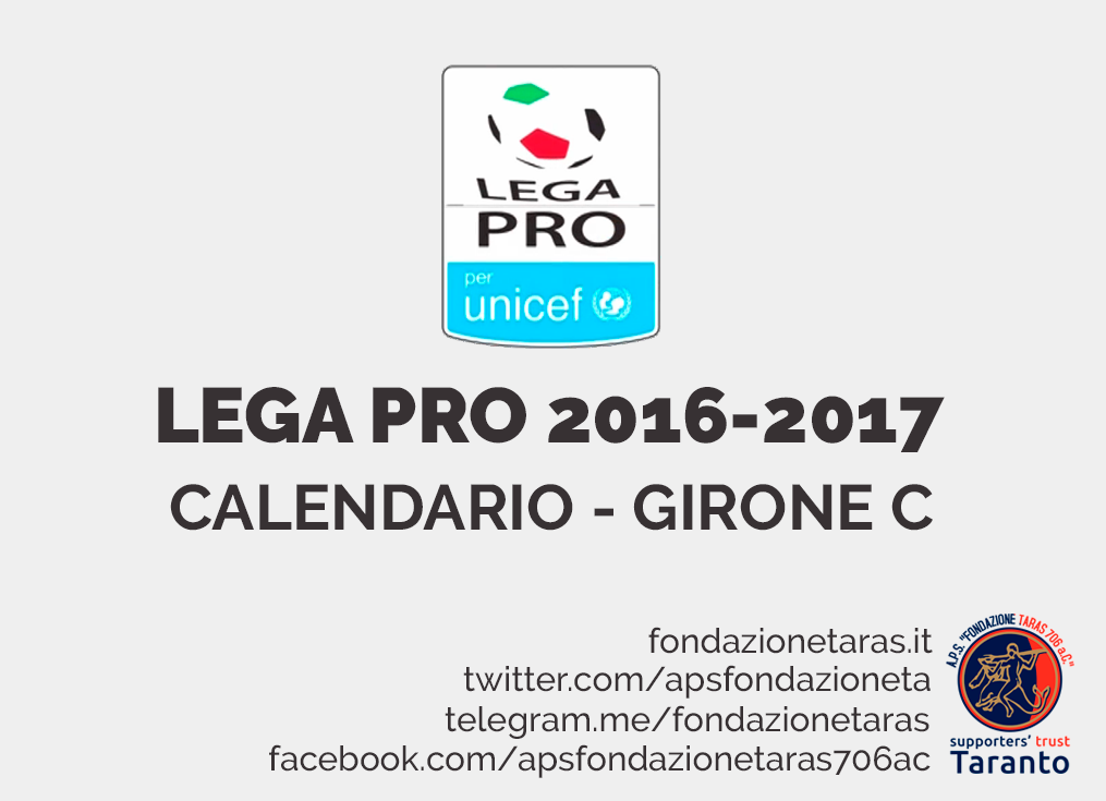 Calendario Lega Pro Girone C Pdf.Calendario Lega Pro Scaricabile Fondazione Taras 706 A C