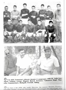 La formazione del Taranto 58-59